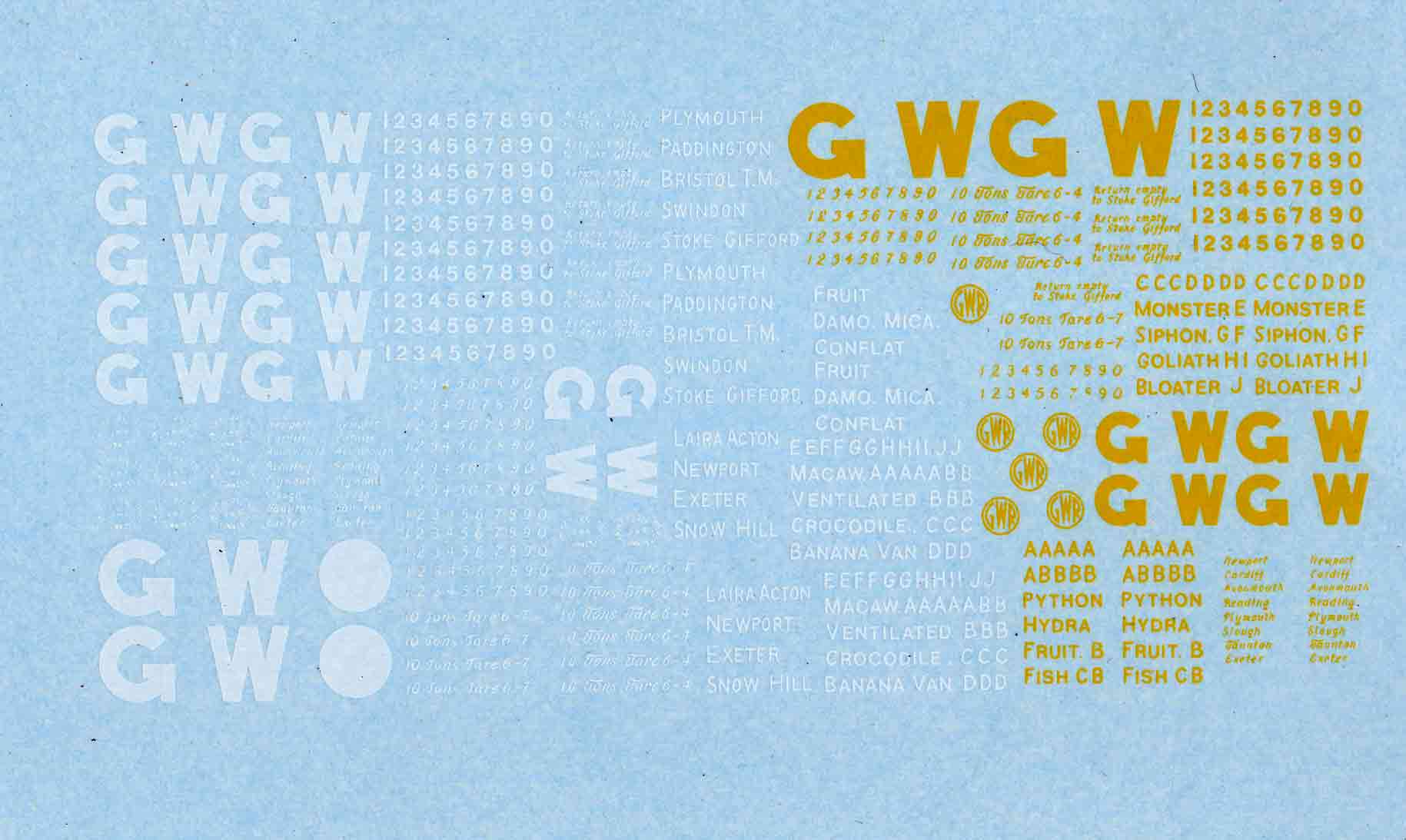 GWR Freight markings